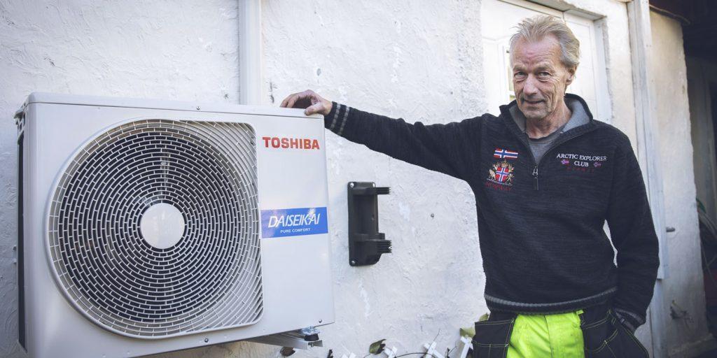 Ivar kjøpte 3 varmepumper